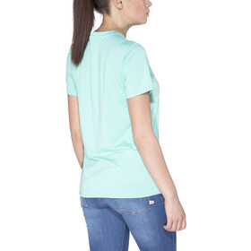 Patagonia Capilene Daily Graphic T-Shirt Dames, outline text logo:galah green